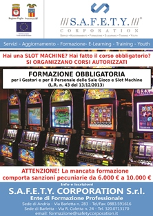 Legge regionale puglia slot machine