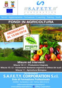 locandina agronomi misure 10 e 11 prorogato al 15-6-16