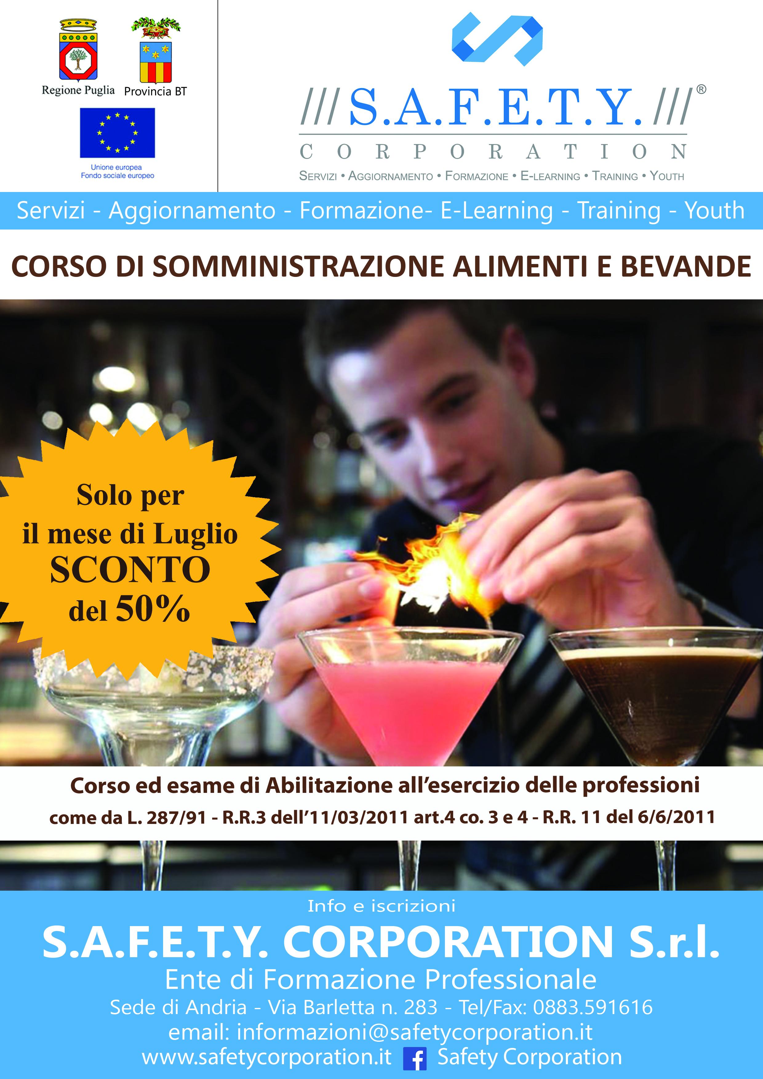 locandina SCONTO somministrazione alimenti e bevande ex R.E.C. nuova modificata modificato per mese di luglio