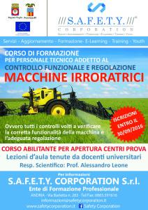 locandina agronomi macchine irroratrici